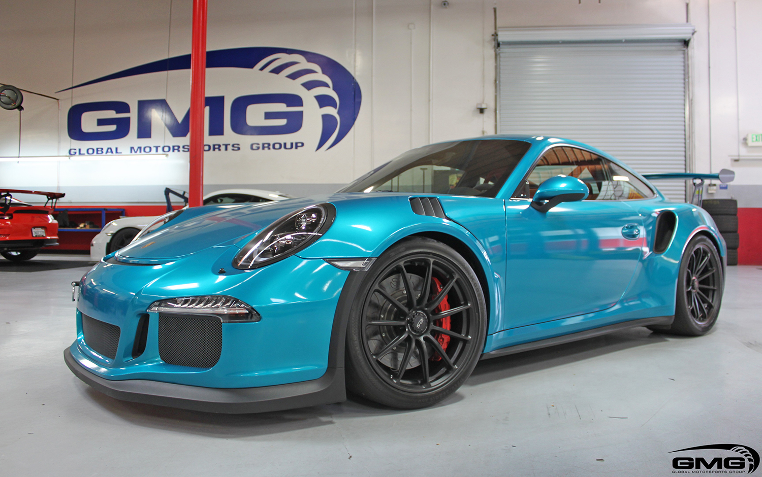 Porsche Teal 991 GT3RS built by GMG Racing