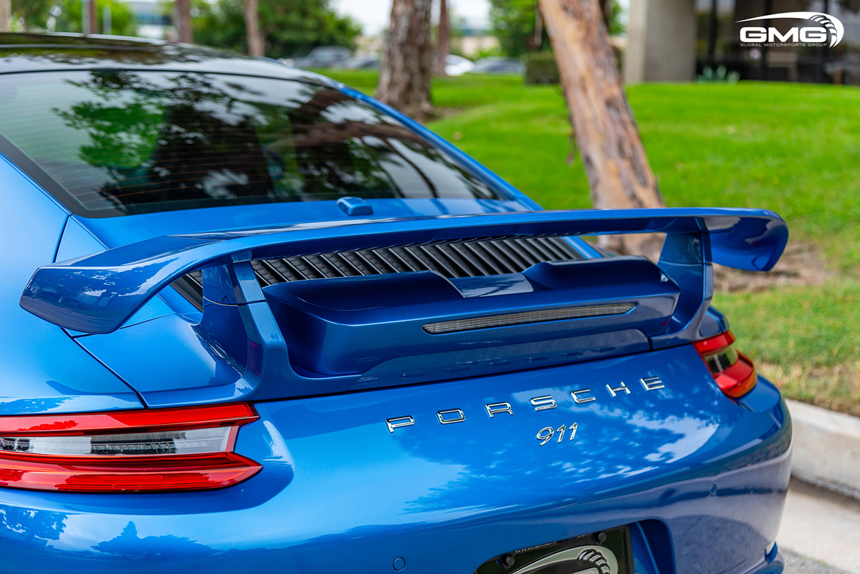 Sapphire Blue Metallic Porsche 991.2 Techart Carrera