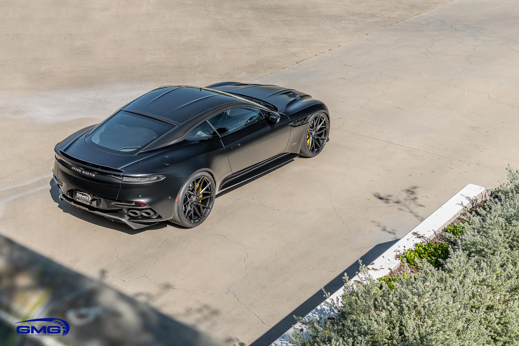 Matte Black Aston Martin DBS Superleggera