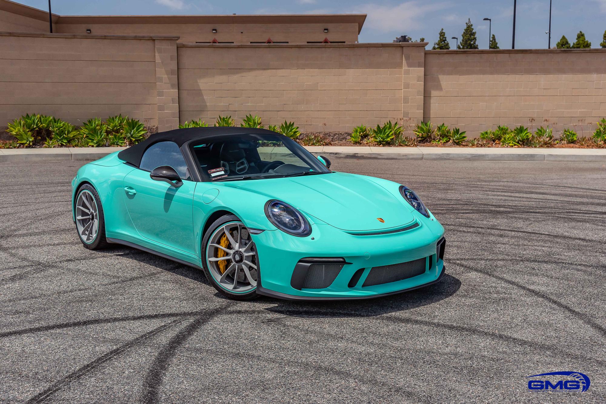 Mint Green Porsche 991 Speedster