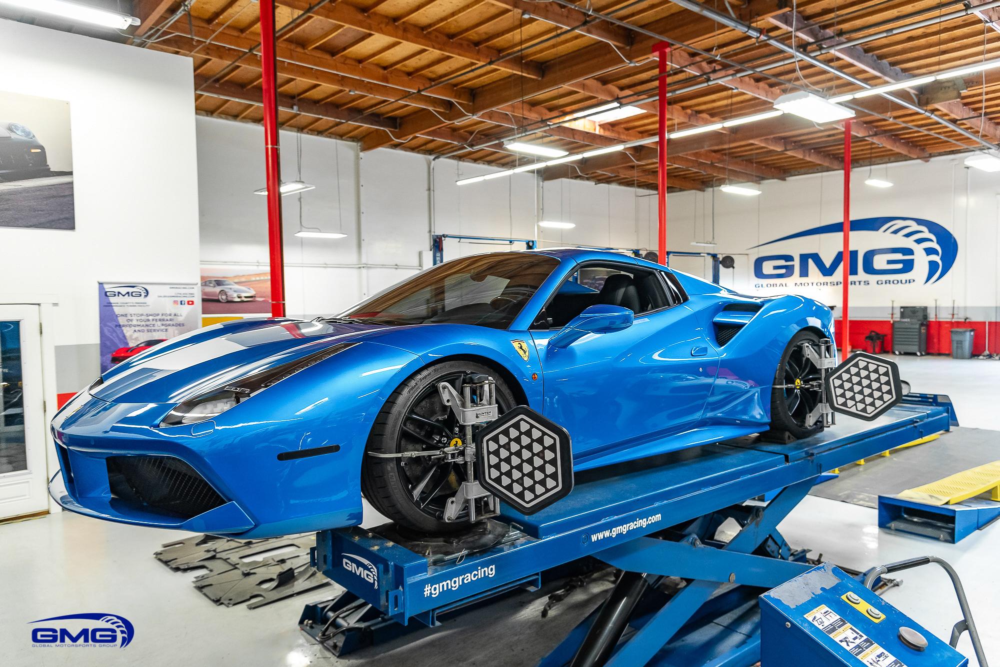 Blue Corsa Ferrari 488 Spider