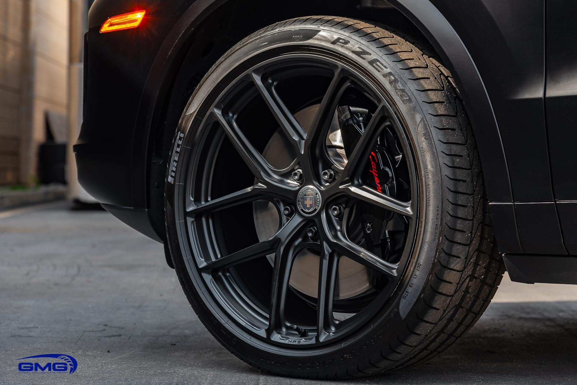 Satin Black Porsche Cayenne Turbo