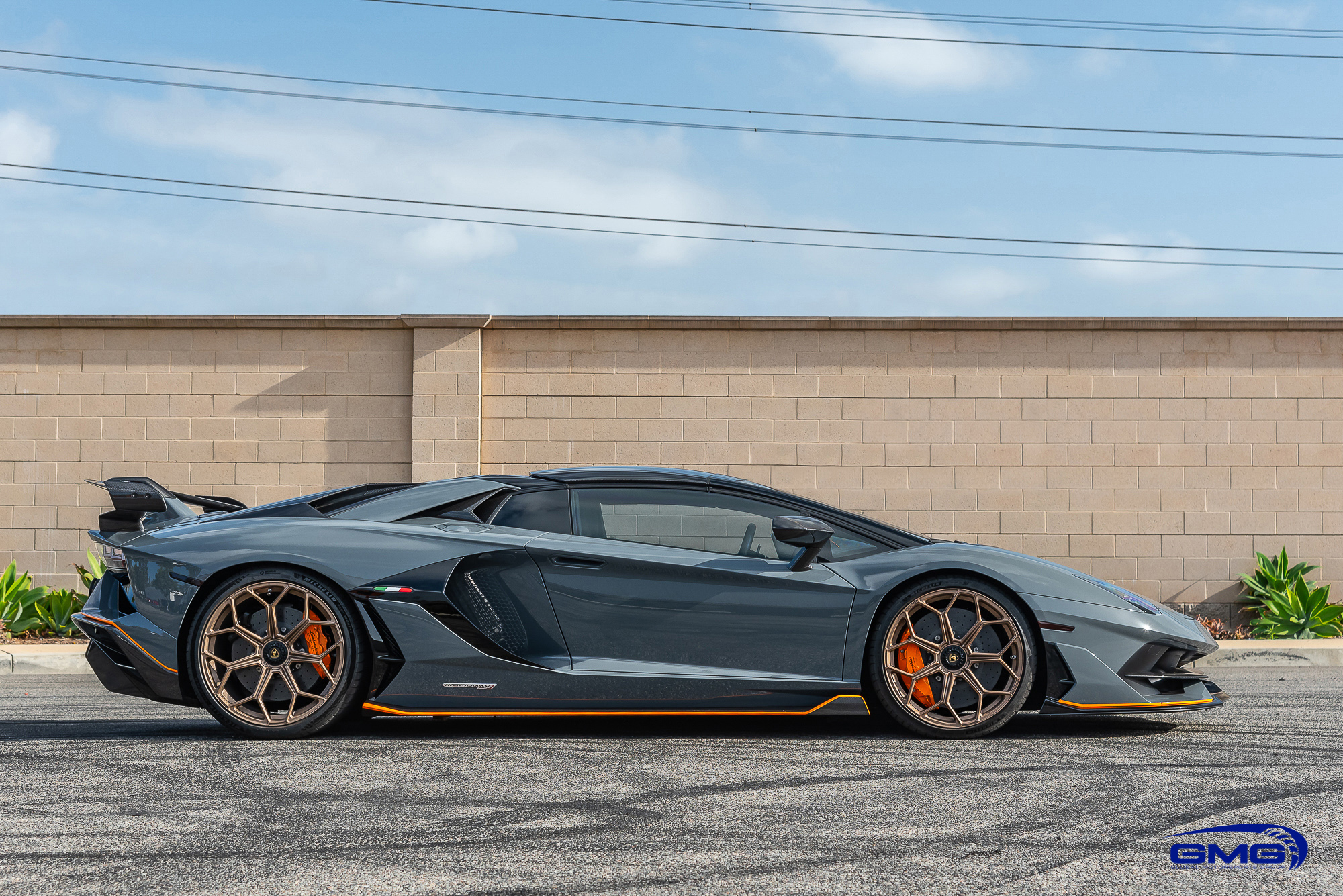 Grigio Telesto Lamborghini Aventador SVJ