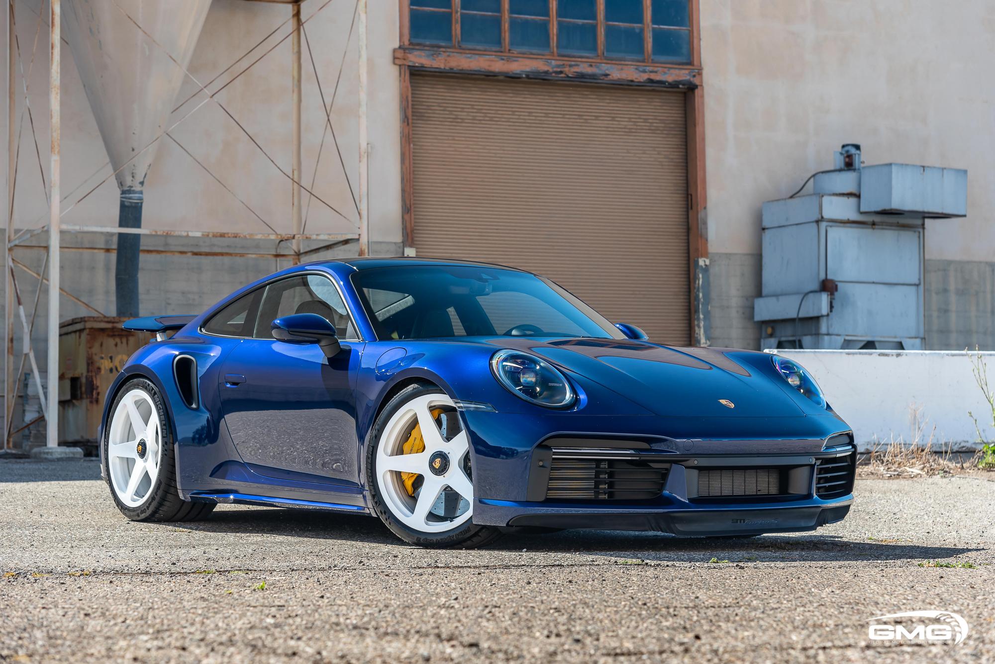 Gentian Blue Porsche 992 Turbo S